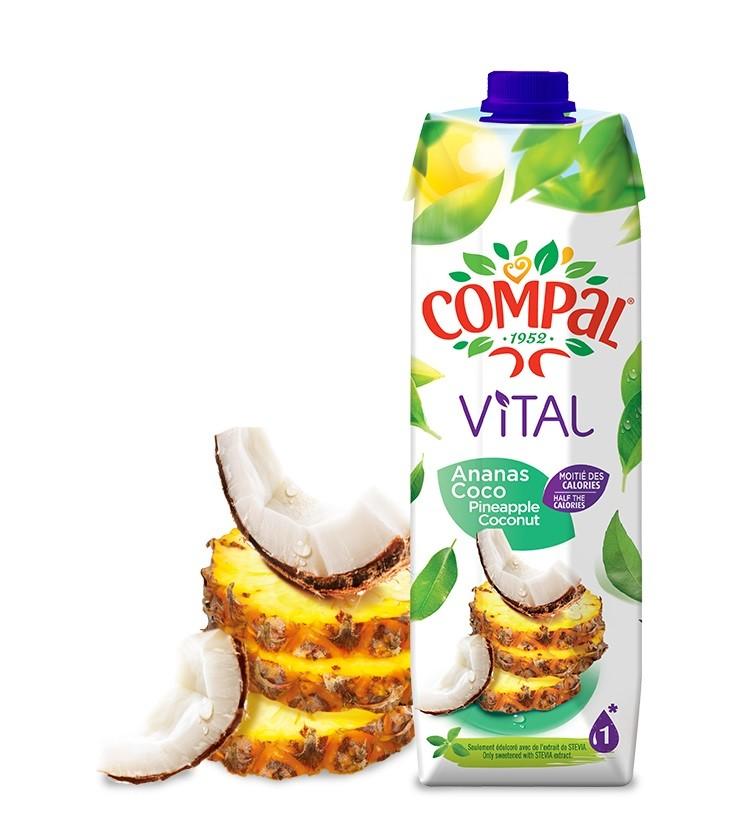Compal Vital Pineapple Coconut 1Lt