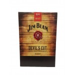 Jim Beam Devils Cut 2 Glass Gift Pack